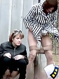 Two hidden camera chicks who urinate